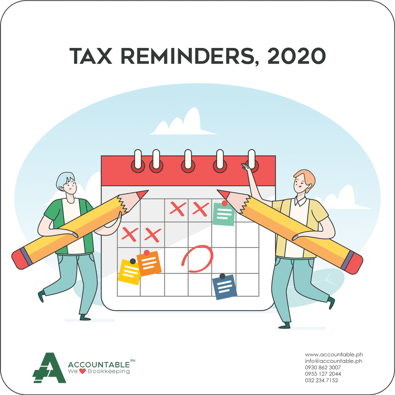 BIR Tax Deadlines for January 2020